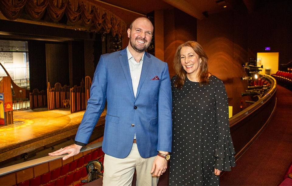 PTC Managing Director Christopher Massimine with PTC Artistic Director Karen Azenberg. 2019.